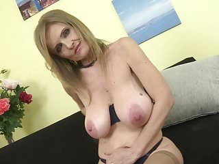 Mature princess mom beside super broad in the beam saggy chest