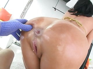Mature squirting from ass