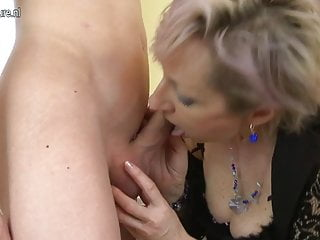 Horny grown-up mom fucked by young boy