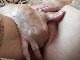 Very old German granny and their way saggy tits