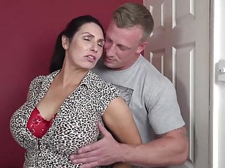 Booty busty mom suck with the addition of fuck lucky son