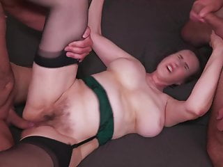 Hairy mature old woman fucked off out of one's mind 3 boys in circa holes