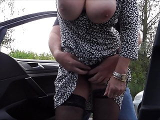 horny granny with big tits on the managing