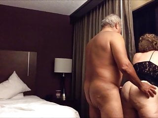 Old big ass become man fucked from behind in the hotel enclosure