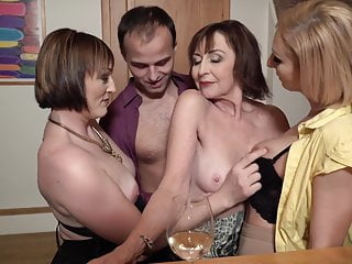 Sex party with desperate moms with an increment of single son