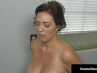 Chunky Titty Housewife Charlee Chase Kneels & Sucks Boss' Cock!