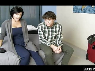 Sexy Stepmom Added to Young Stepson Share A Hotel Room