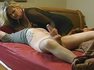 Sexy grown up seduces boy with big dick
