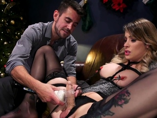 Lady's man fucks submissive TS in bastinado