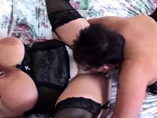 OldNannY Team a few British Matures Lesbian Toying