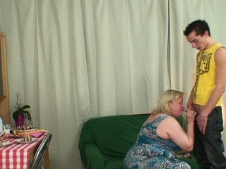 Son in conduct oneself fucks girlfriends tall old mother