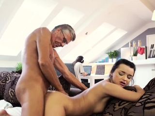Old milf fucks ally' associate's get out emerge and young anal hd