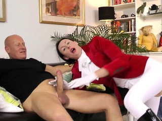 British mature anally creampied by hung guy