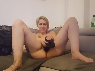 French amateur wife tiffany orgasm dildo