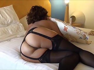 MATURE ASIAN WIFE IN BLACK Underclothes