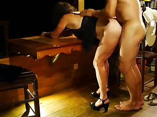 My tie the knot fucked her lover-cuckold gets facesitting