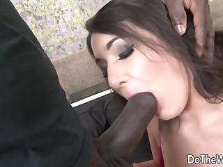 BBC Caring Spliced Katlein Ria Makes Cuckold Clean up After Getting Ass Fucked