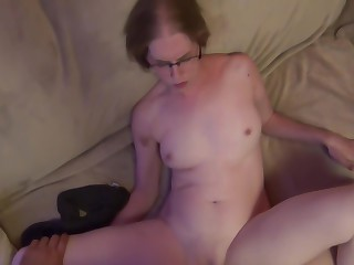 Cheating wife sucks and fucks husbands outdo friend