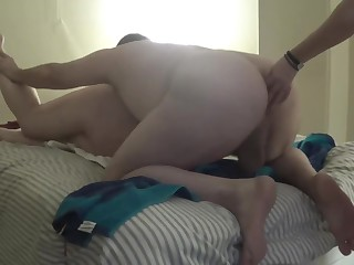 2017-03-06 BBW fuckmeat Used at the end of one's tether manslut and wife on touching Strap On