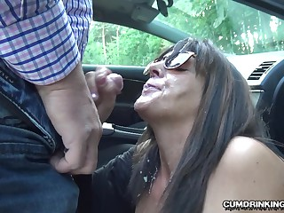Slutwife Marion gangbanged by 20 strangers at a rest size
