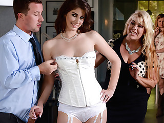 Karina White & Jessy Jones connected with Depose Yes To Getting Fucked In Your Wedding Dress - Brazzers
