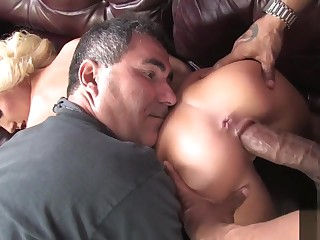 Cuckold watching young wife fucked monster ebony flannel