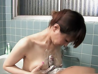 Hot wife Myuu Tsubaki goes to a be in love connected with New Zealand pub connected with an old lover