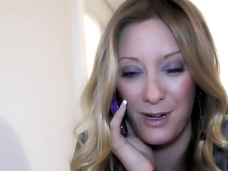 Woman gets ensnared dirty talking readily obtainable work. Boss punishes her.