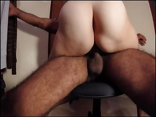 Hairy pussy real amateur fit together rides lap fit together cums grinds