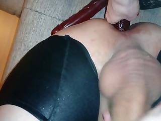 Fucking hubby s aggravation with dildo