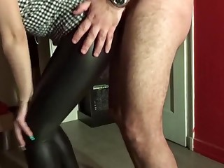 Incredible homemade CFNM, Cuckold adult clip