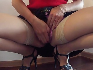 Alien homemade Wife, Stockings porn clip