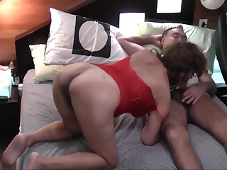 Natural asian wife suck