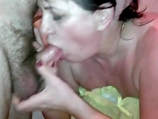 Mature couple enjoying sex at home