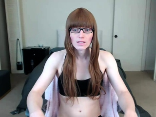 Tranny shemale amateur in lingerie gewgaw solo play