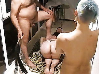 Lustful Adults Started Fun Orgy Smoking Action to hand Balcony