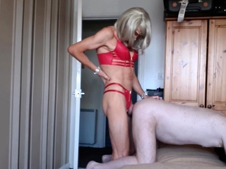 RachelSexyMaid 45 Blonde Shemale Fucks Dad