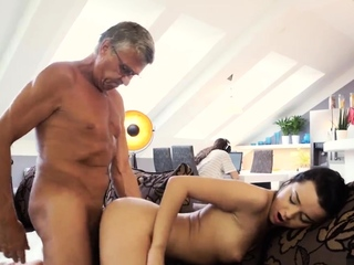 Teen babe blowjob and comrade's brother in pretence What would