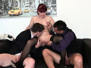 Two dudes truck garden shaved pussy office old lady