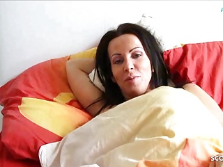 German Son Wakes up Step Mom and Seduces her to Fuck