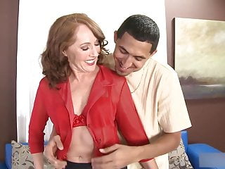 Over 50yo Redhead Milf Sucks and Fucks Random Suppliant