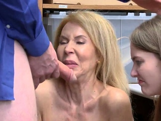 Natural hairy mature and trapped in hardcore gangbang Suspec
