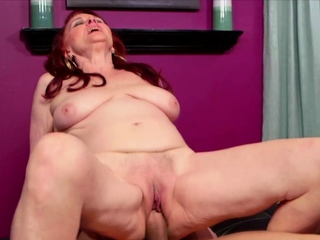 Redhead Granny Sucks coupled with Fucks