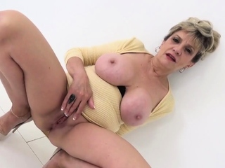 Busty blonde mature Lady Sonia has a filthy mind