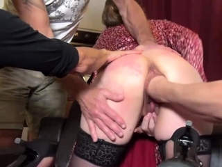 Gang Bang Fist Fucked French Wife