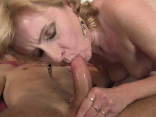 Wifes blonde mother pleases my horny dick