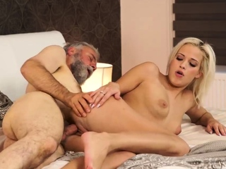 Old man sucking young cock Ria tried to stop him, but it