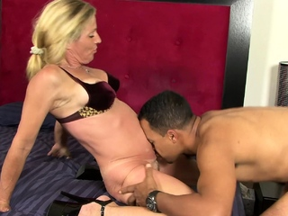 Busty blonde wife gets back at her cheating husband