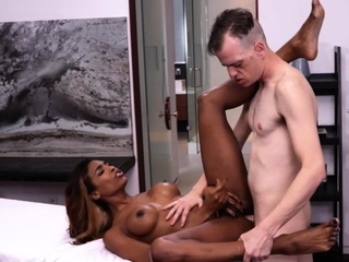 Interracial anal sex with ebony ts Natassia Dreams