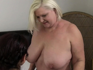 OldNannY Lacey Starr Having Auntie Threesome